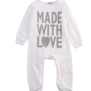 Other - Boutique baby unisex long romper 0-3, 6-9 mo.
